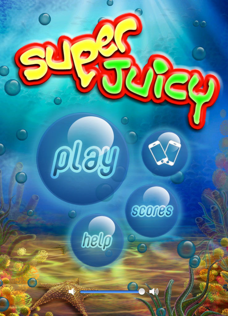 Menu screen for Super Juicy HD!